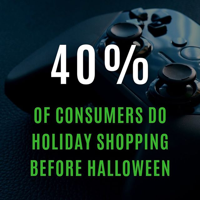 And guess what? I'm part of this 40%! My holiday shopping is completed and it was completed last month to be honest.  __  How are you preparing for this holiday season? Have you figured out all of your sales? __  Grab my 2019 Holiday Marketing Guide!! You won't be disappointed! Link in my Bio!! __  #jmariedigital #readyplayerone #2019HolidayMarketing #ebook #socialmediatips #socialmediatricks #happyholidays2019 #instagramtricks #facebookmadness #emailmarketing #holidays2019 #businessowners