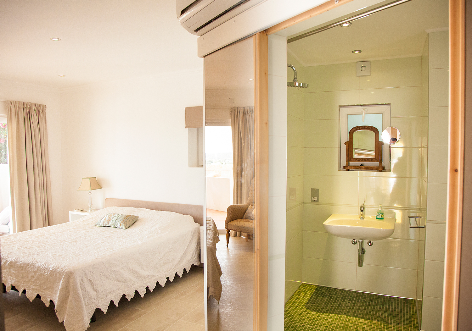 BEDROOM3 - Perfect for the more independent guest.Toilet with support bars and wet-room shower