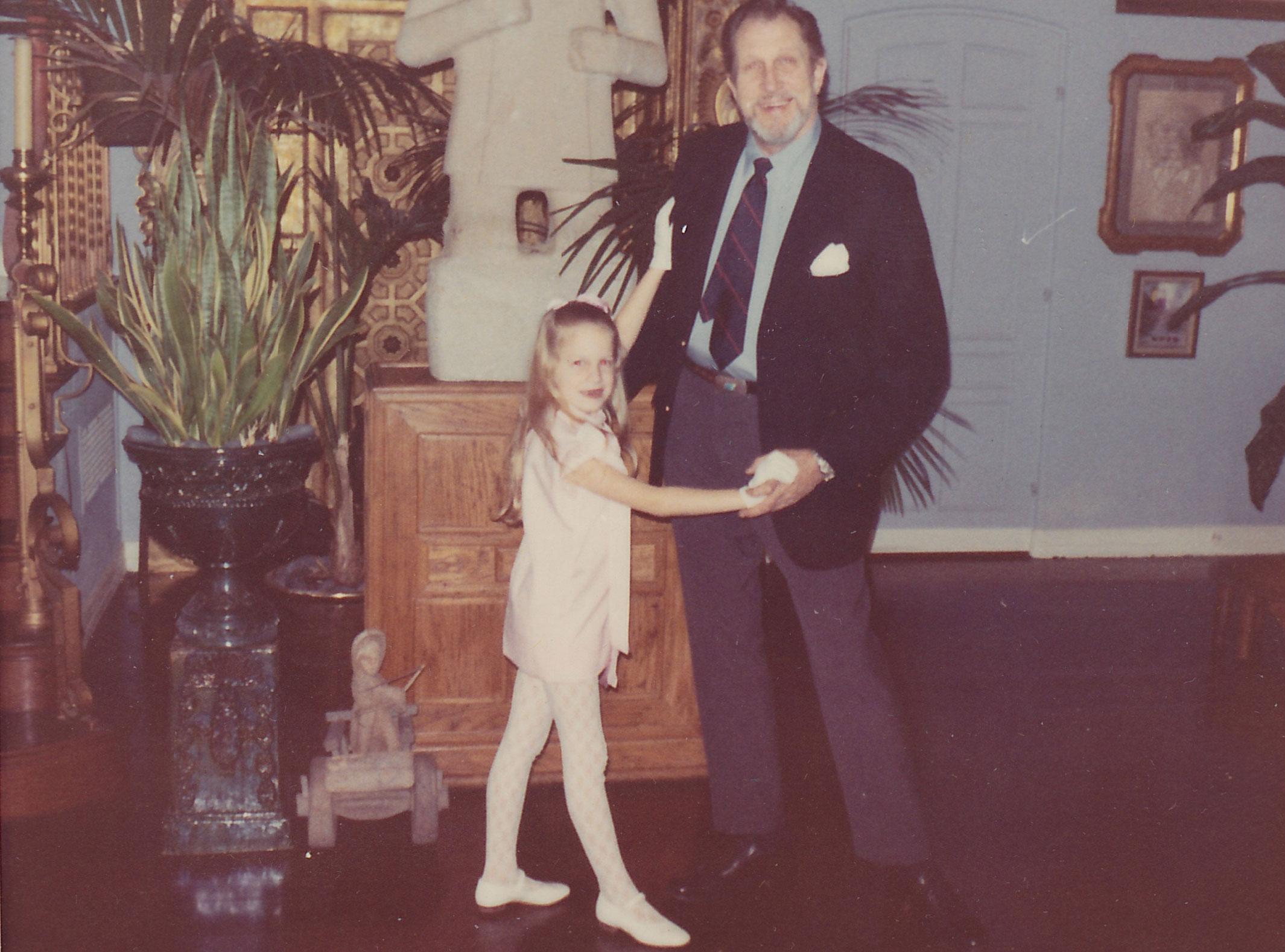Vincent Price with his daughter, Victoria.