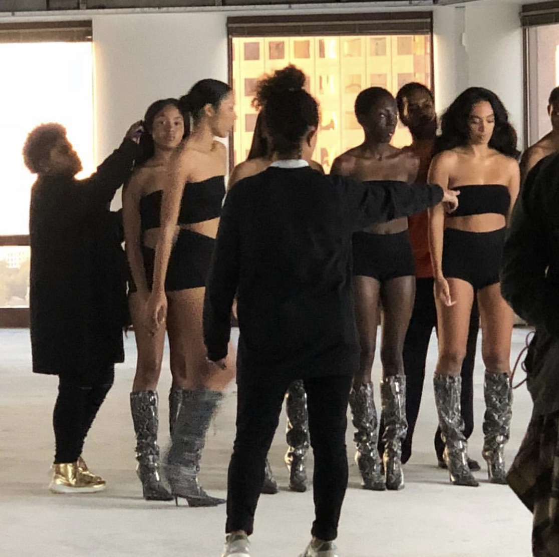 Maya Taylor directing Solange and dancers for    When I Get Home