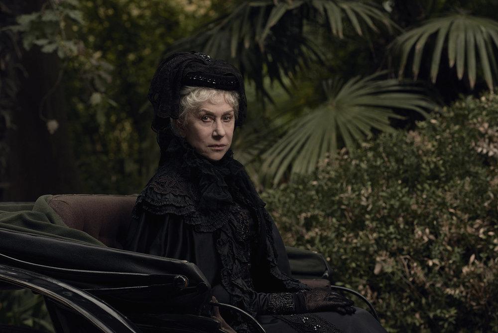 Helen Mirren as Sarah Winchester. CBS Films.