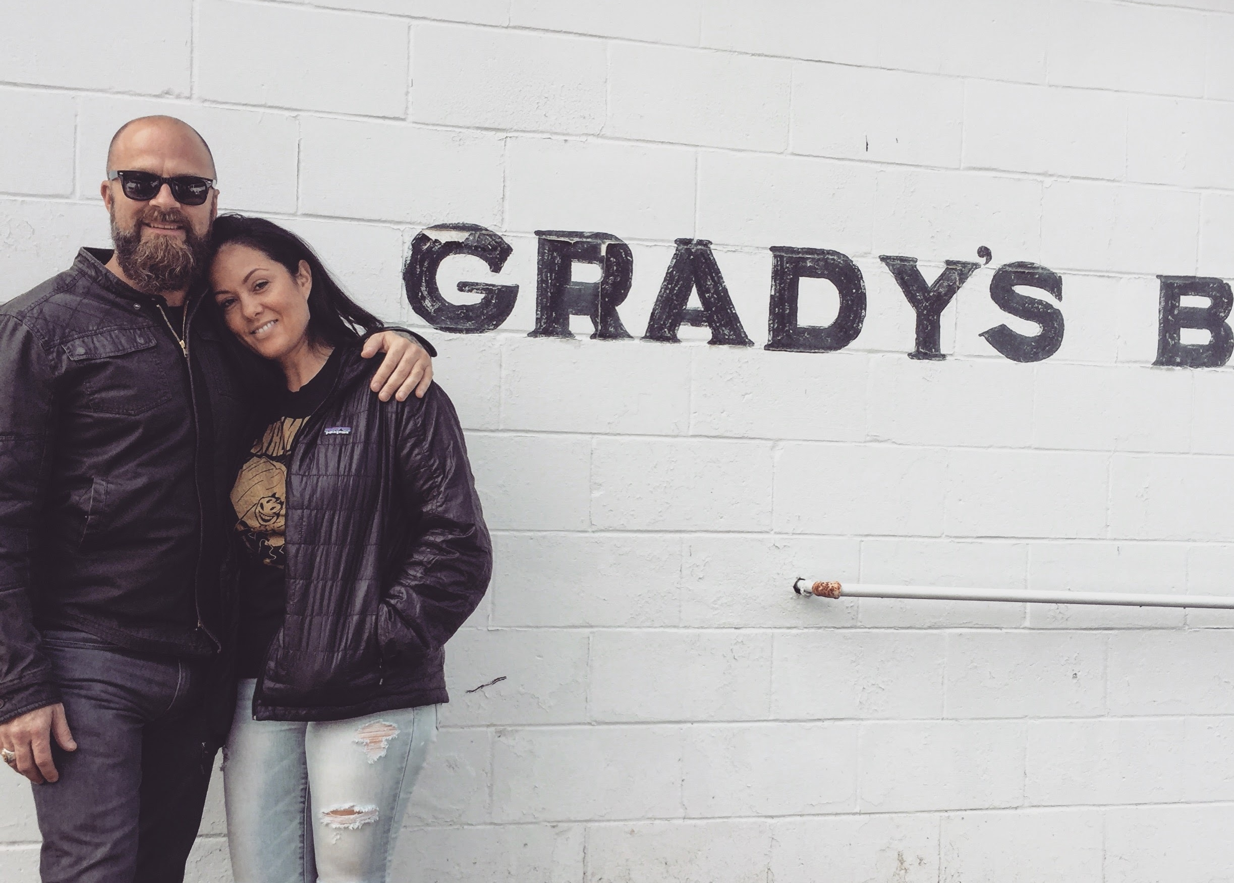 Mama and I at Grady's BBQ. One of our favorite local digs.