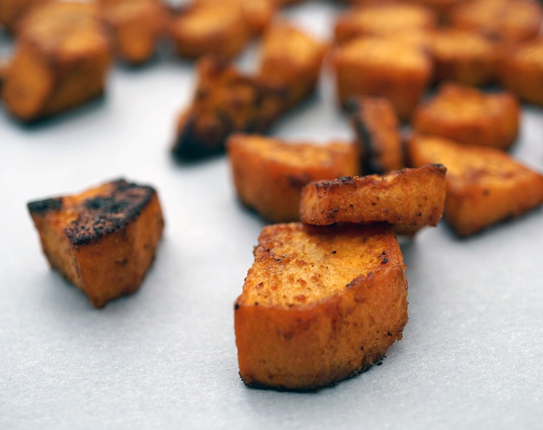 Tienes hambre? - Local sweet potatoes lightly blackened to perfection, just waiting for a taco.