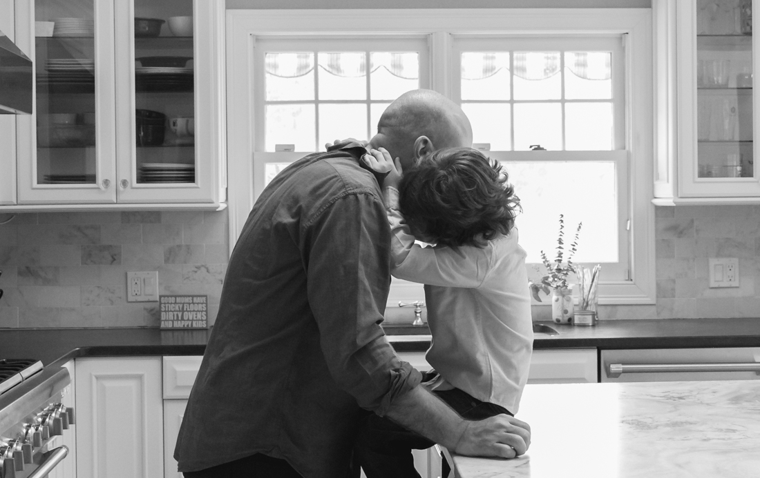 In home family session in the kitchen father and son New York Family Photographer Helene Stype 0419-6.jpg