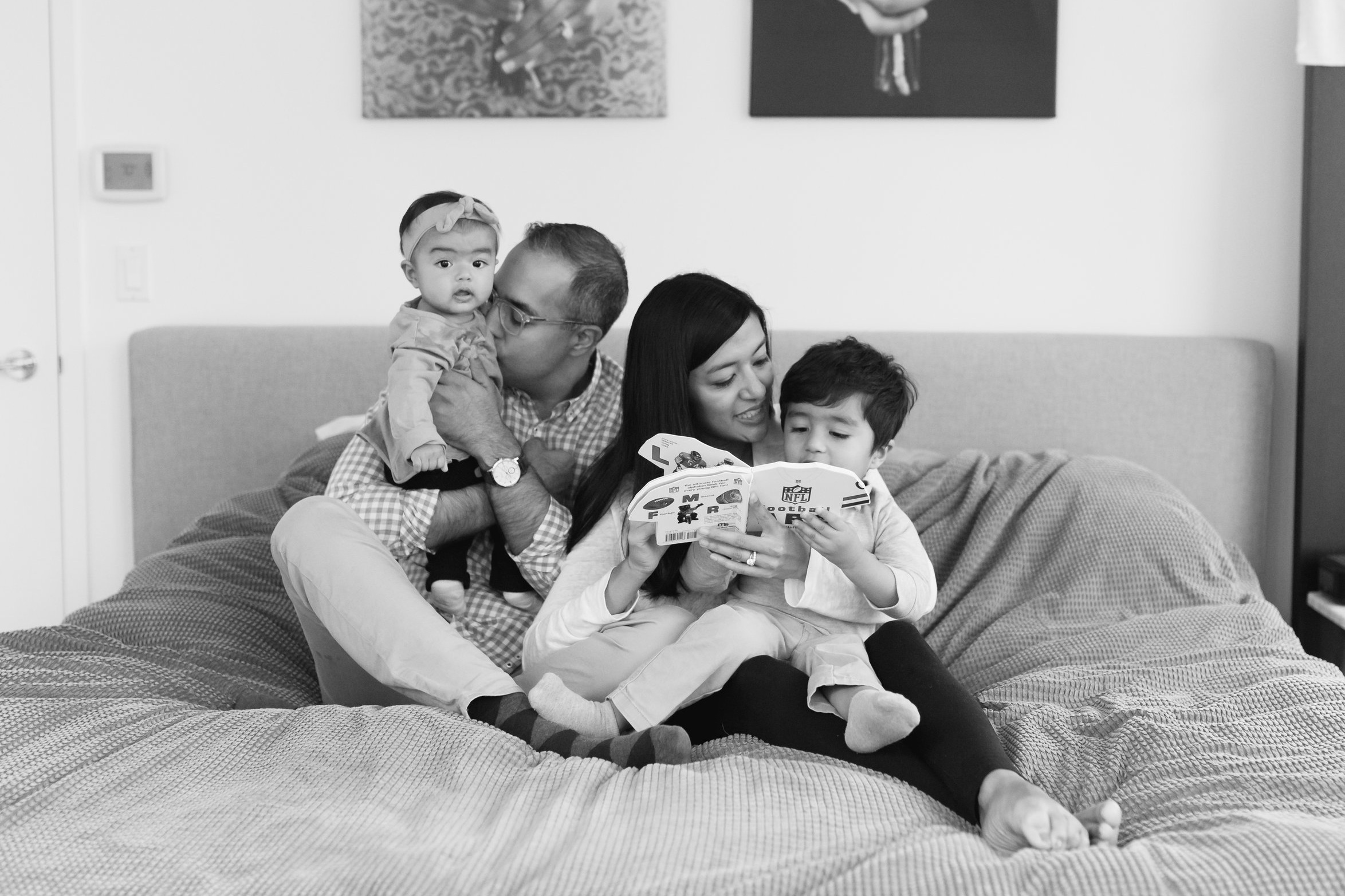 """SHIRIN & SACHIN - """"Would highly recommend her!!!""""Helene was a joy to work with and our photos came out so beautifully! She made my kids feel immediately at ease (a 2.5 year old and a 7 month old - no easy feat) and was so patient working with our family. Would highly recommend her!!!"""