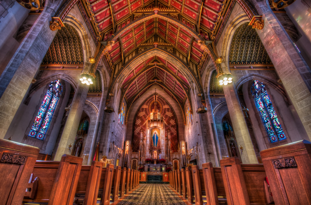 Queen of All Saints Basilica in Northwest Chicago. Photo by  Matt Frankel .