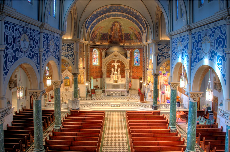 St. Cecilia Catholic Church in St. Louis, MO. Photo credit: Jeff Geerling .