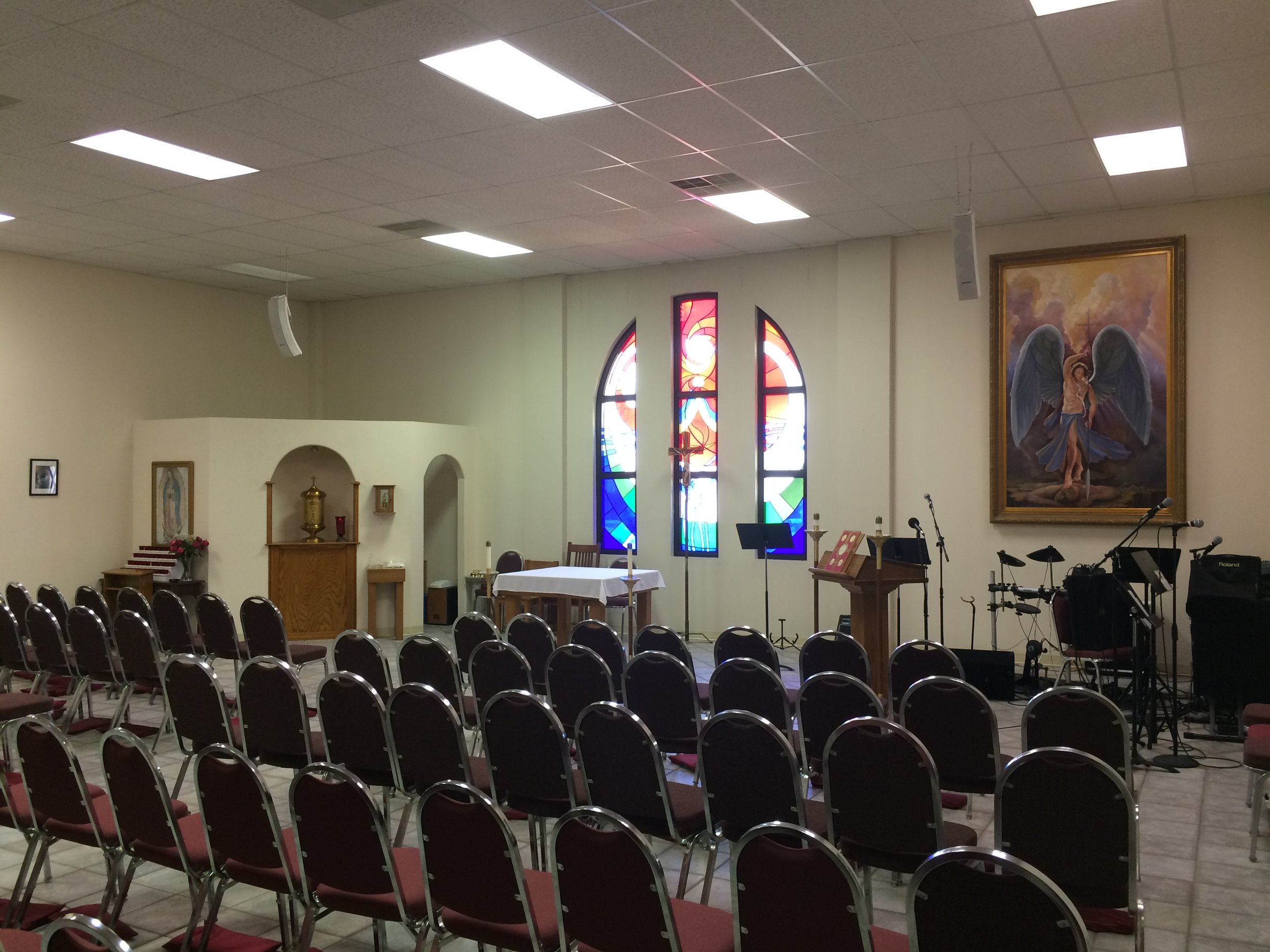 Chapel at West Texas A&M Catholic Student Center – BEFORE