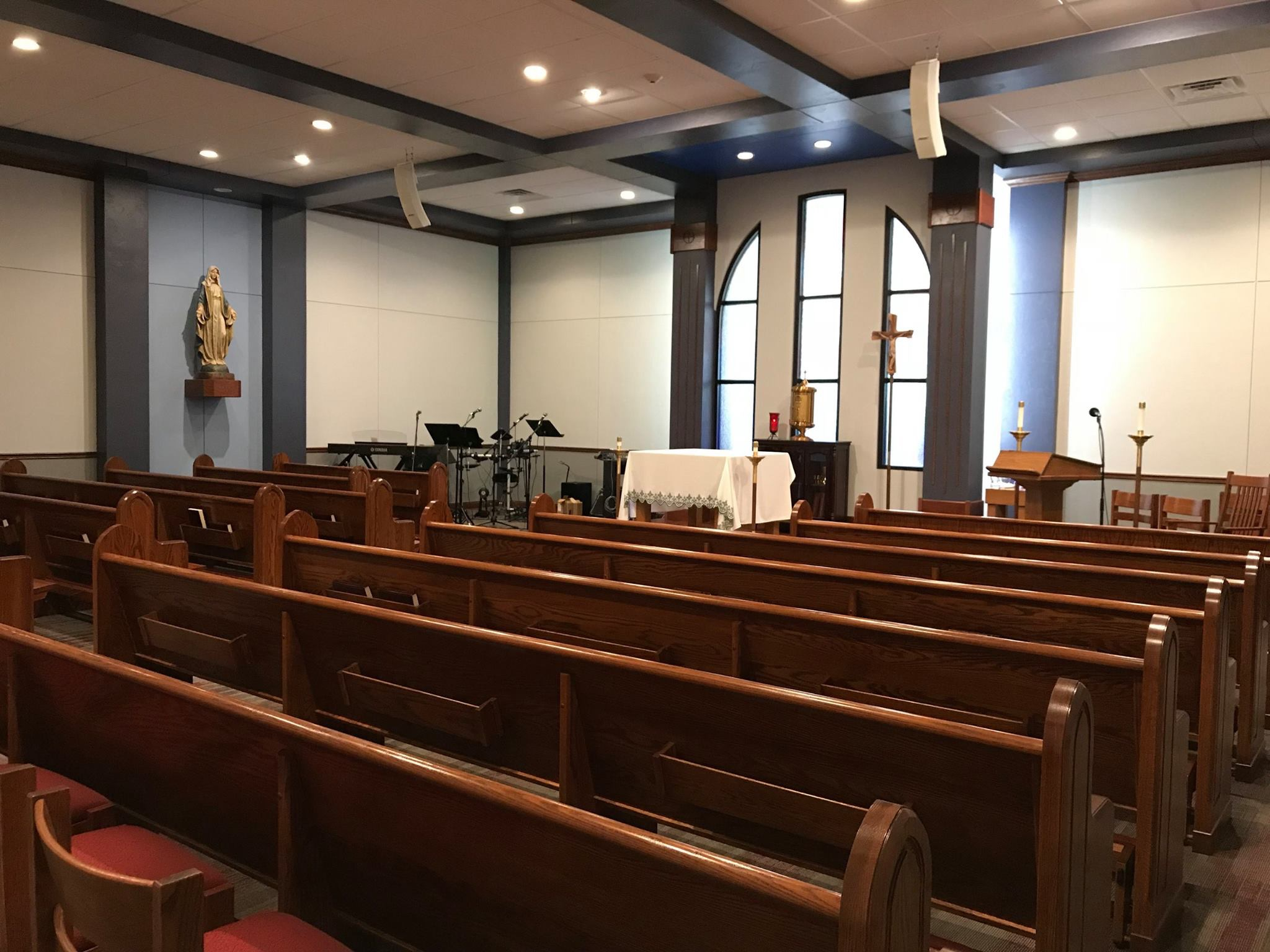 Chapel at West Texas A&M Catholic Student Center – AFTER (Phase 1, prior to Sacred Art & Furnishings)
