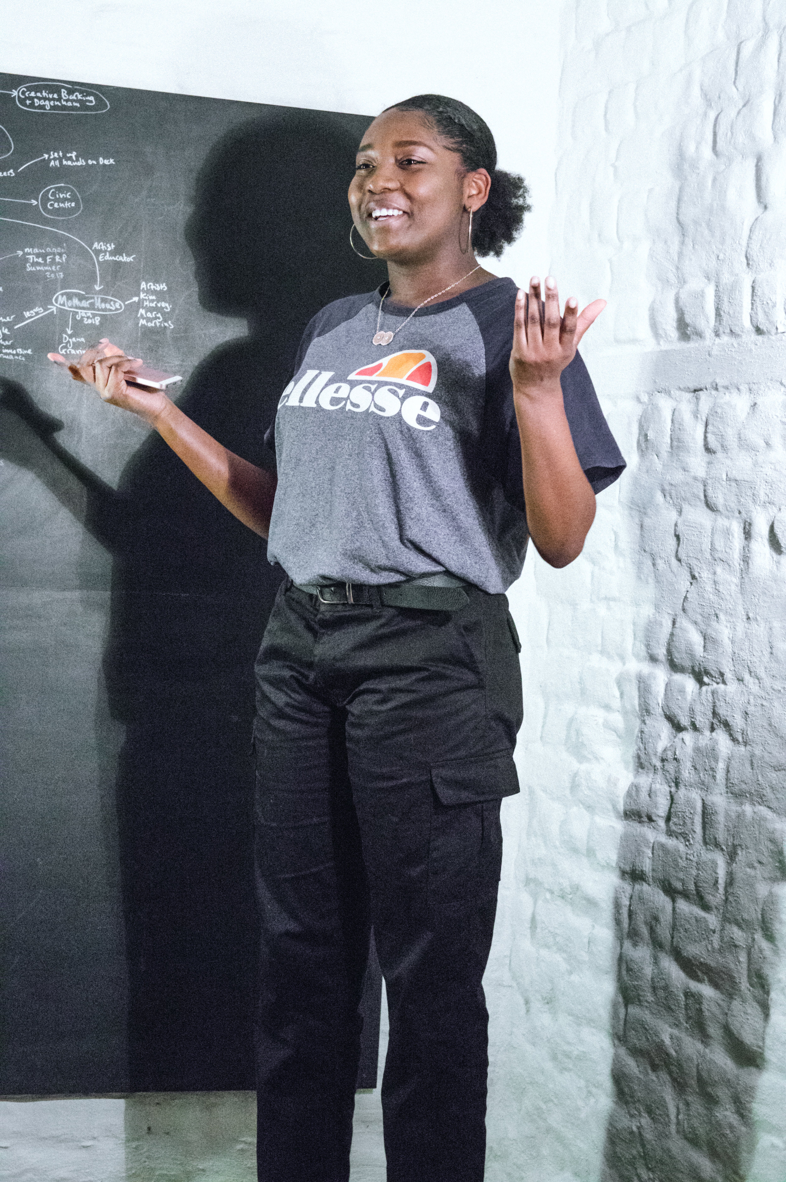 Sharon Machisa performed as a feature act at the Sofa Slam