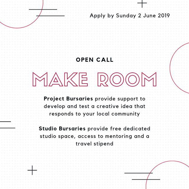 Applications are now open for the Studio and Project Bursaries! Link in bio . Make Room is a new creative development programme at The White House designed to make room for new voices and ideas in our programme, supporting under-represented groups to have agency within the arts and their communities. . Studio Bursaries provide free dedicated studio space, access to one-to-one mentoring and a travel stipend with the aim of helping to alleviate the financial constraints of art making and widen access to opportunities within the arts.  . Project Bursaries provide support to develop and test a creative idea that responds to your local community with positive change at its core, with the aim of developing new approaches to community-led programming. . Join us at our information events on Tuesday 14 May, 5pm-7pm or Thursday 23 May, 12-2pm, or visit link in bio to find out more.  . . . #makeroom #ourwhitehouse #whitehousedagenham #dagenham #barkinganddagenham #opencall #artists #artistdevelopment #bursary #projectbursary #studiobursary #igers #artistsoninstagram