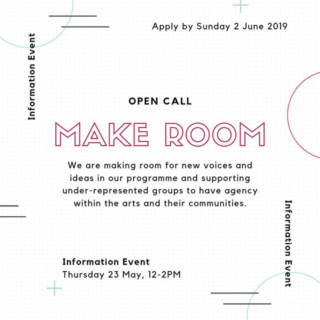 Applications are now open for the Studio and Project Bursaries! Link in bio . Join us next week, Thursday 23 May, 12pm-2pm to find out more . Make Room is a new creative development programme at The White House designed to make room for new voices and ideas in our programme, supporting under-represented groups to have agency within the arts and their communities. . Studio Bursaries provide free dedicated studio space, access to one-to-one mentoring and a travel stipend with the aim of helping to alleviate the financial constraints of art making and widen access to opportunities within the arts.  . Project Bursaries provide support to develop and test a creative idea that responds to your local community with positive change at its core, with the aim of developing new approaches to community-led programming. . Join us at our information events on Tuesday 14 May, 5pm-7pm or Thursday 23 May, 12-2pm, or visit link in bio to find out more.  . . . #makeroom #ourwhitehouse #whitehousedagenham #dagenham #barkinganddagenham #opencall #artists #artistdevelopment #bursary #projectbursary #studiobursary #igers #artistsoninstagram