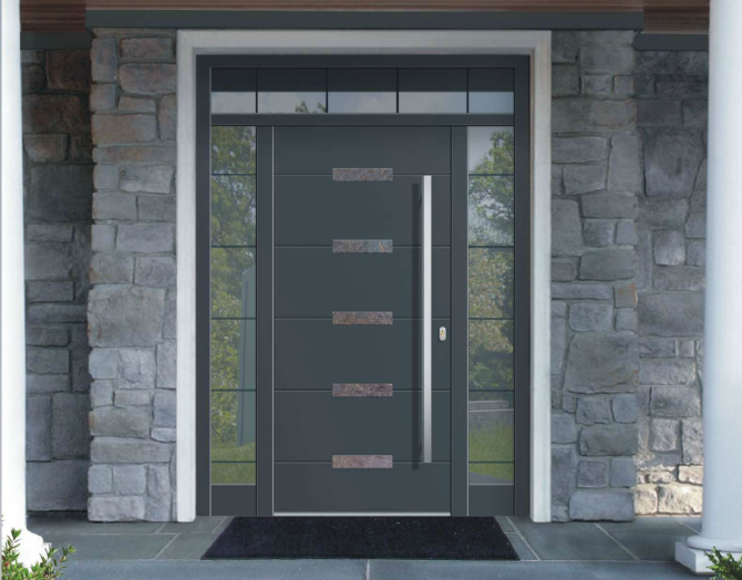 Entry Doors   Our entry doors come with 3D adjustable hinges, multi-point locks and a warm, low threshold as standard. We have a variety of panel design options as well, ask your sales person for more info.