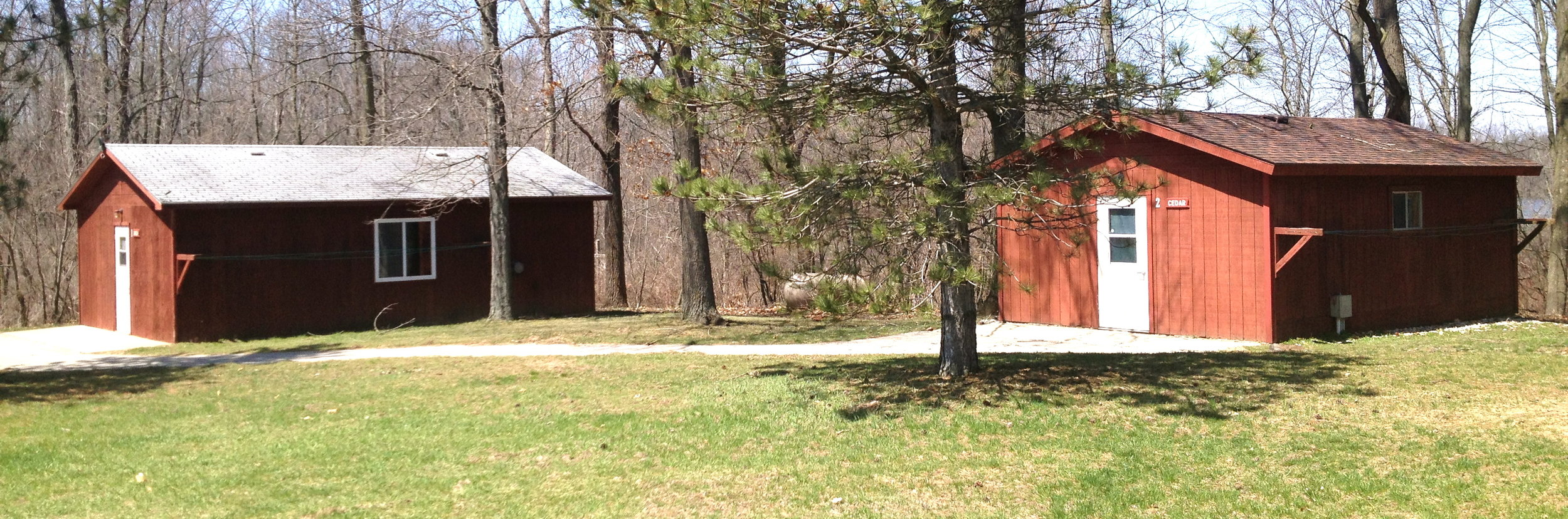 A look at a few cabins near the Dining Hall.