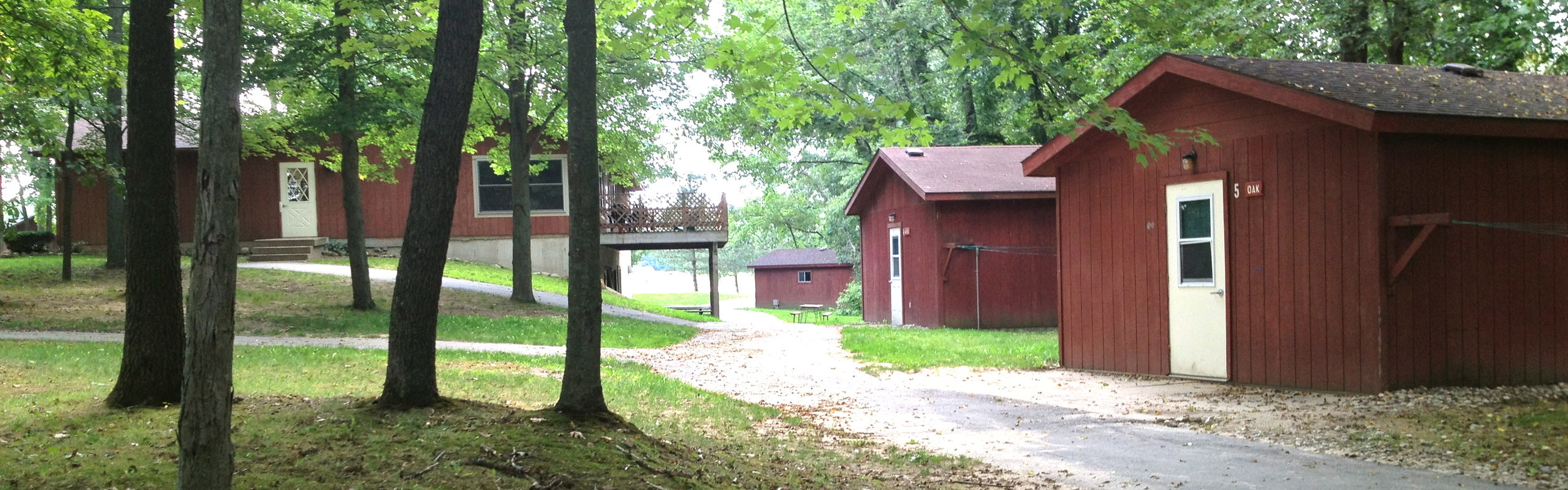 A few of our cabins to the north of the Retreat Center.