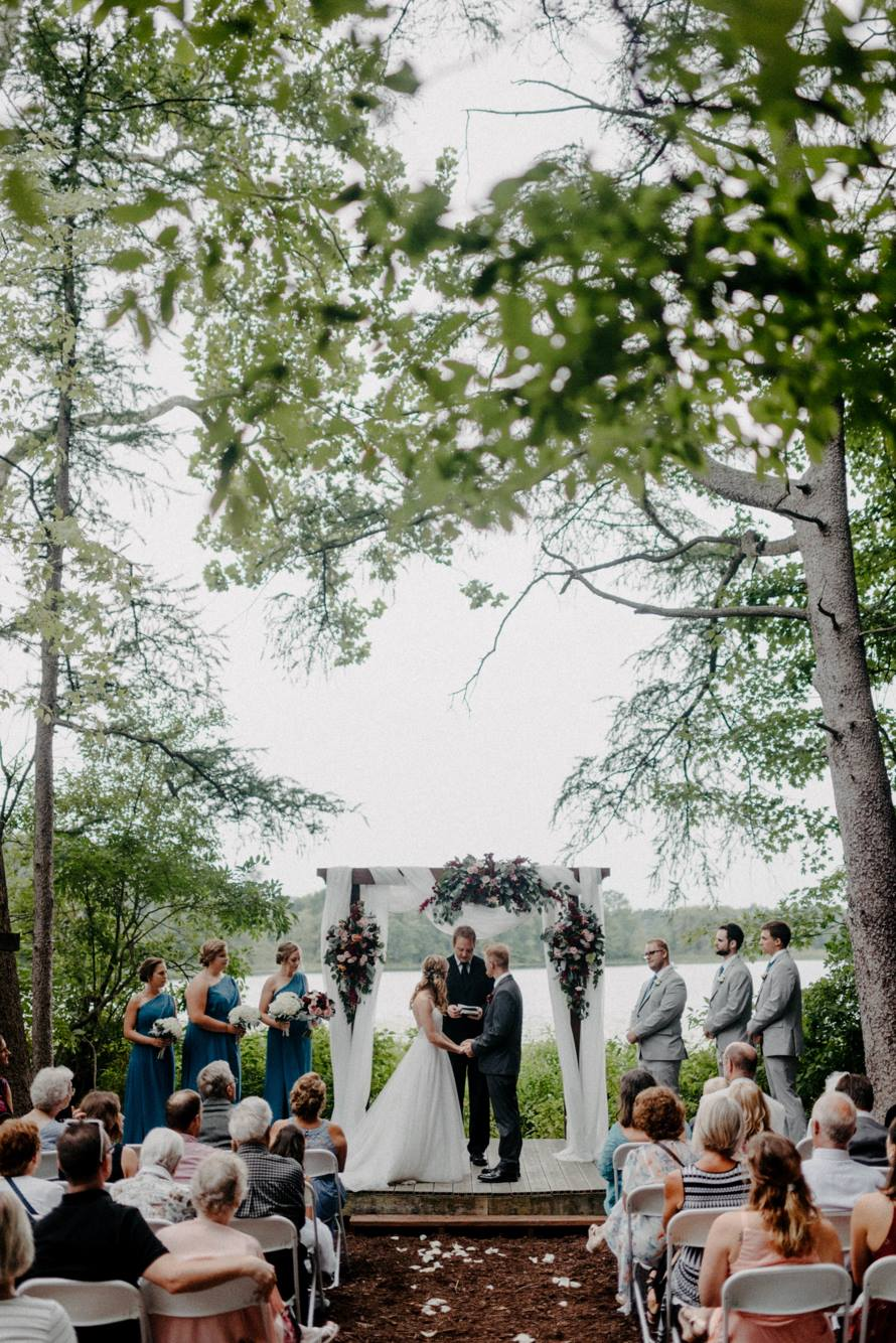 Book your wedding with us! - Our beautiful Outdoor Chapel is an excellent location for an intimate-style wedding. With space for about 80 guests, the Outdoor Chapel at SON-Life, secluded by woods, with a great view of Round Lake, creates a serene environment for that unforgettable day.