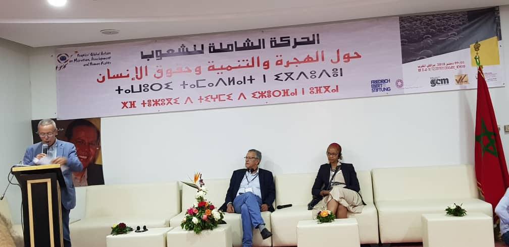 Lebohang Pheko at People's Global Action (PGA) Marrakech, Morocco 2018