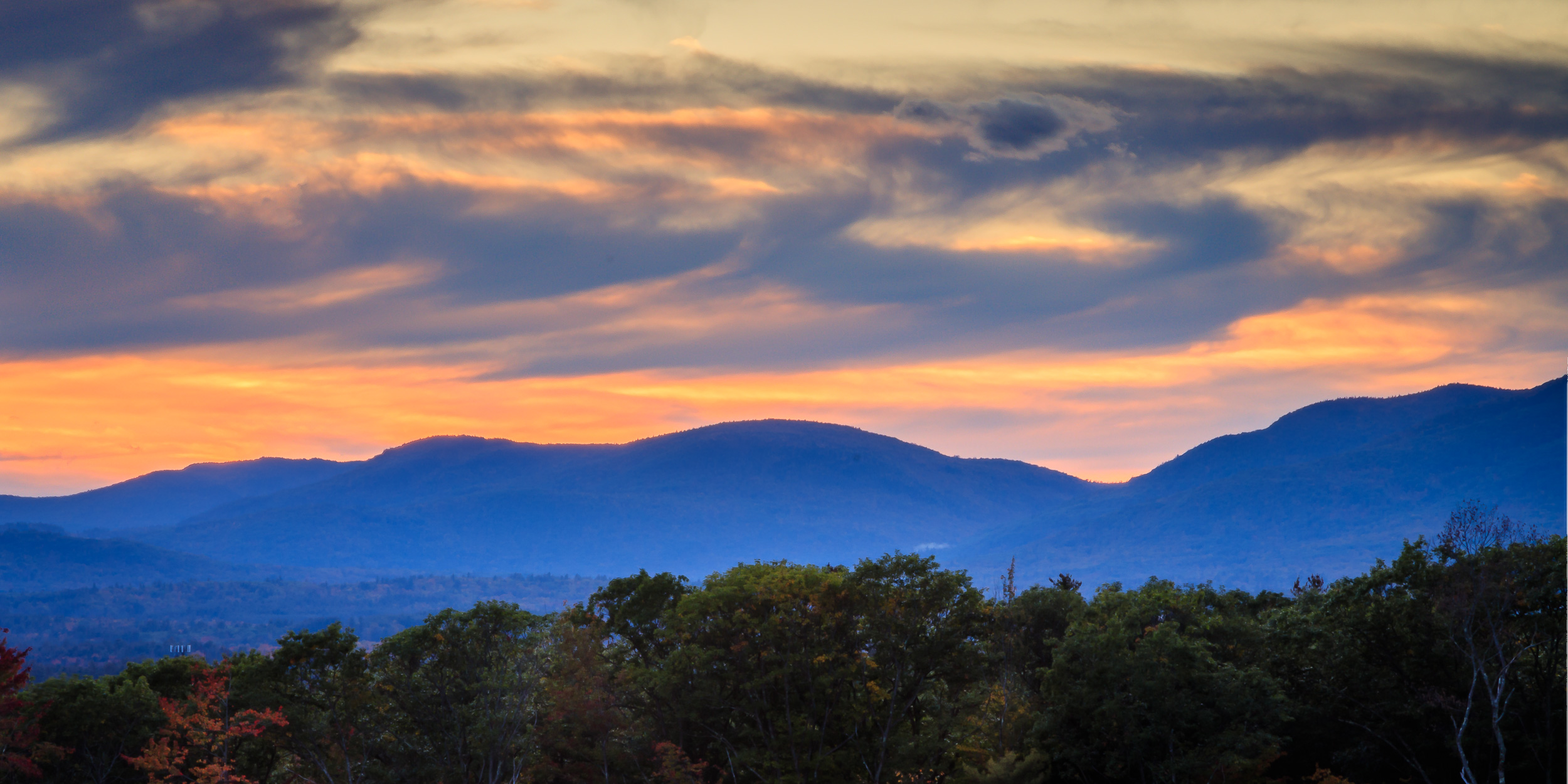 Sunset over Whiteface Hollow