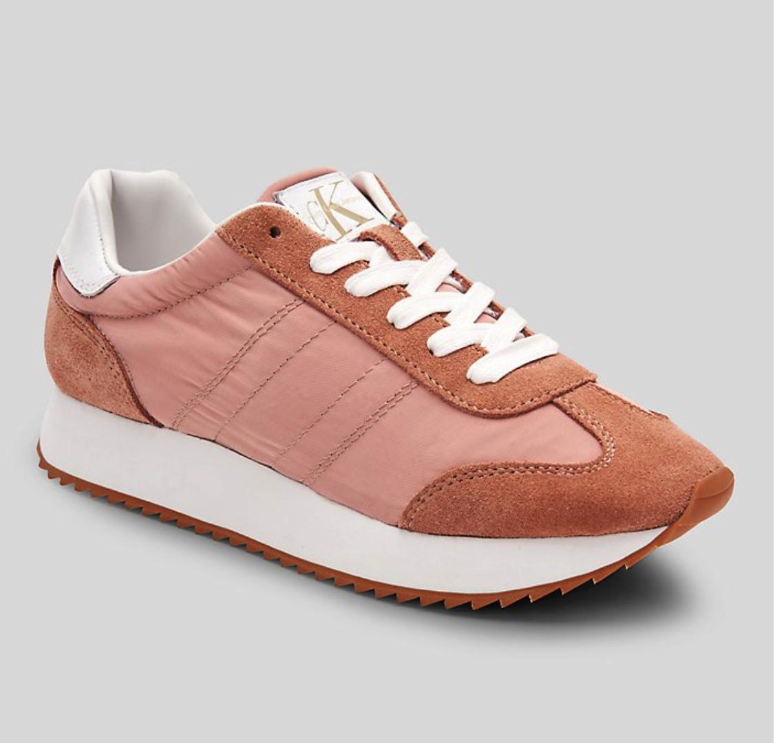"Calvin Klein Colete Nylon Suede Sneaker in ""Dusk"" $99, CalvinKlein.com"