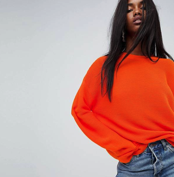 ASOS Oversized Sweater in Ripple Stitch $45, ASOS.com