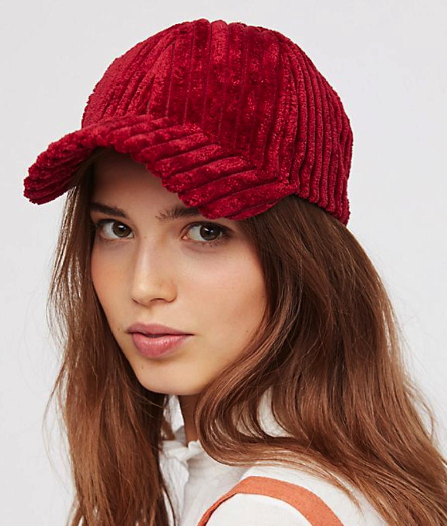 Sugar Hill Corduroy Baseball Hat $20, FreePeople.com