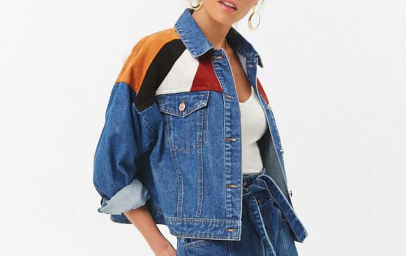 Forever 21: Colorblocked Denim Jacket $37  here