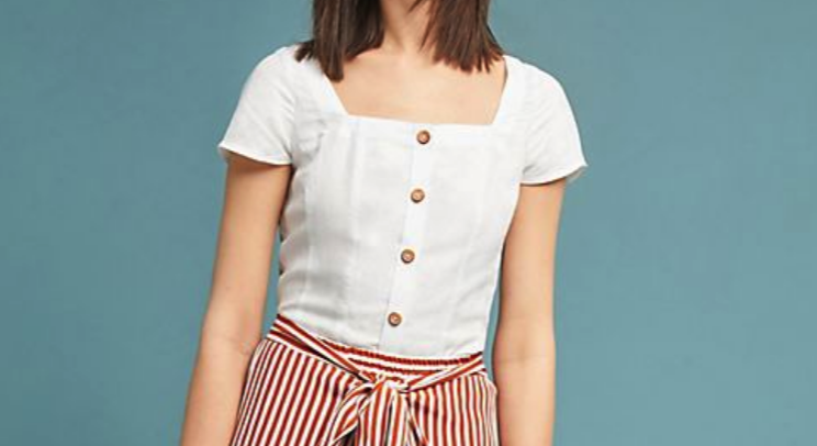 Anthropologie: Dorothy Buttoned Blouse $98   here