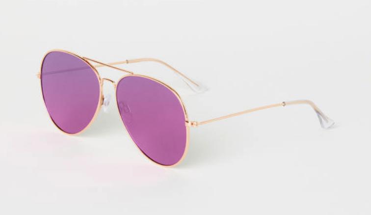 H&M: Sunglasses in Dark Pink $13  here