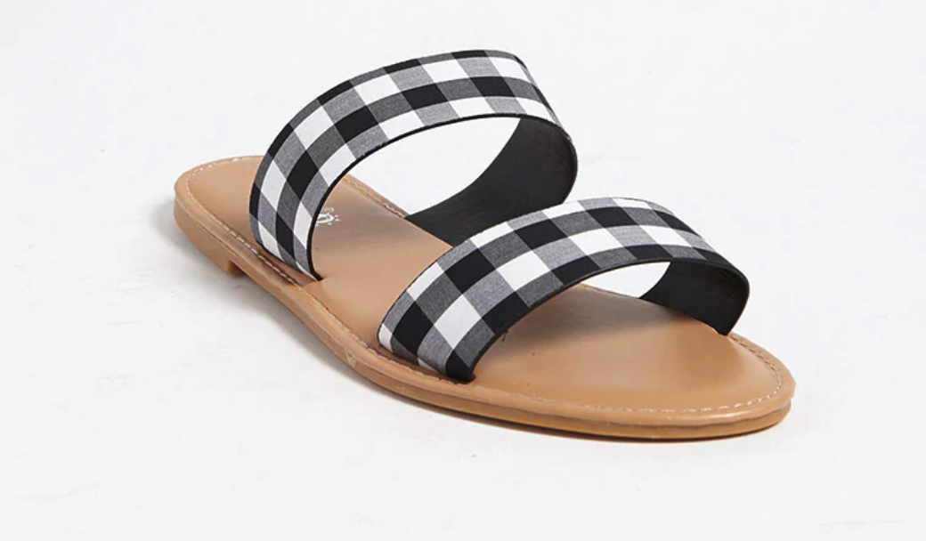 Forever 21: Gingham Double-Strap Sandals $15   here