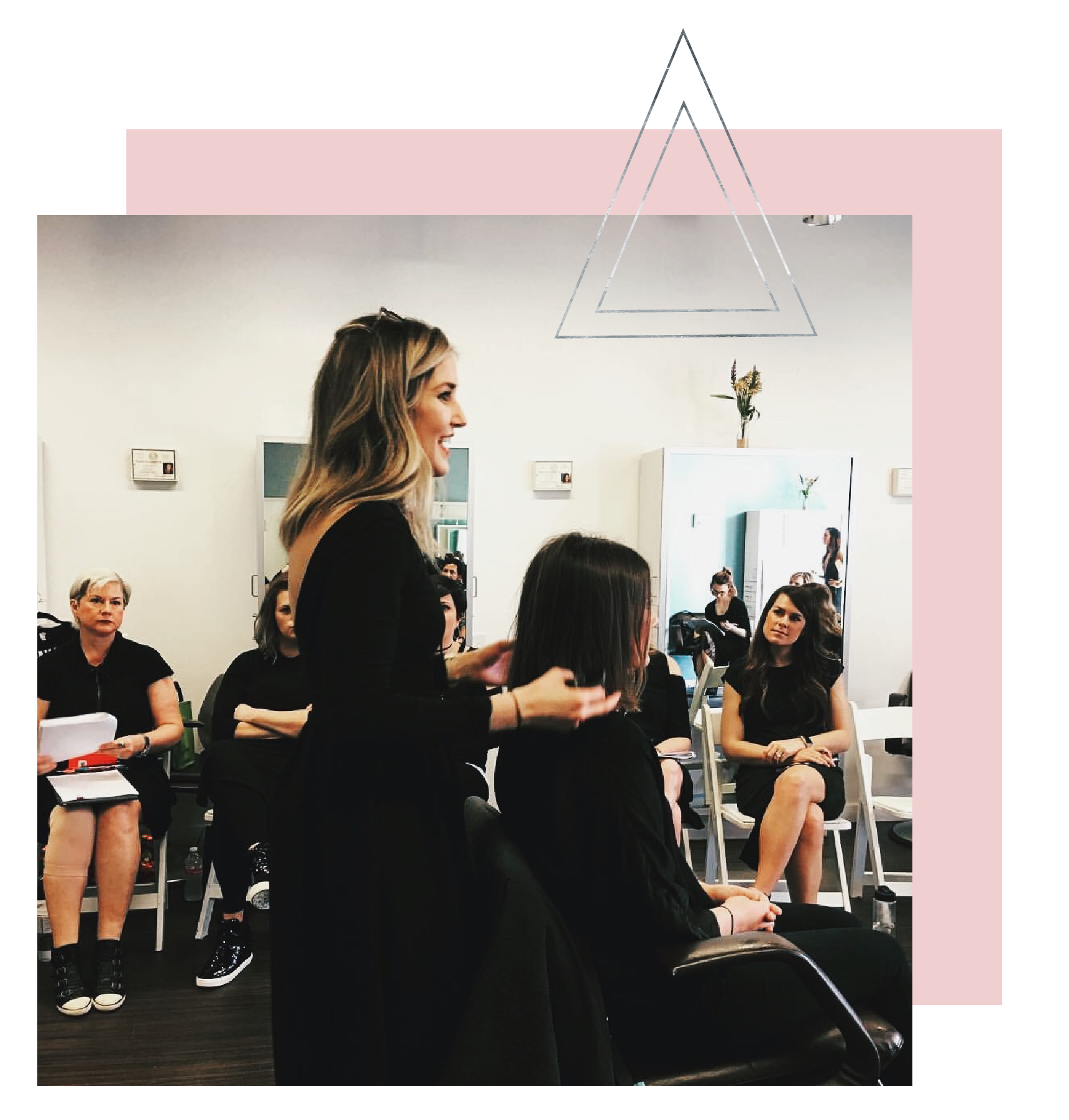Kelli Mason is a hairdresser, educator and mindset mentor for hair stylists and salon owners.