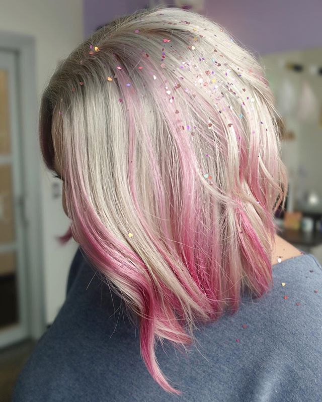 "#LHgoodvibetribe Tina DeSeta's page is full of sparkly, colorful hair and were IN LOVE! Glitter for hair pictures is such a cool idea, it's okay if it's in there for a while right?? 👀💕⠀⠀ ⠀⠀ We're spotlighting this Limitless Hairdresser's work today to showcase an amazing artist that aligns with us!! We hope you love this one as much as we do! Check out her page to see more sparkling hair ✨⠀⠀ ⠀⠀ #REPOST: @tinadesetahair ⠀⠀ ⠀⠀ ""💞L O V E  IS IN THE  H A I R💞⠀⠀ .⠀⠀ When my girl Beth told me that she wanted to play around with vivid tones, I got SO excited. 😍👏🏼⠀⠀ .⠀⠀ We didn't have a ton of time to do a super in-depth color, so I did a quick balayage application on several sections to achieve a soft but noticeable look. Do you think we nailed it? 😁⠀⠀ ⠀⠀ @pulpriothair #blondeaf to lighten, @pravana express toners to tone, @pulpriothair Blush, Cleopatra, and a bit of Cupid for the pink, @biolage #acidic milk rinse to seal it all in. 🙏🏼✨⠀⠀ ⠀⠀ Use the hashtag #LHgoodvibetribe for a chance to get a spotlight on our page! We'll be sharing artists work every Wednesday 💕⠀⠀ ⠀⠀ Love & Light 💕☀️⠀⠀ ⠀⠀ #LIMITLESSHAIRDRESSER⠀⠀"