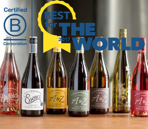 A to Z Wineworks 'Best for the World' B Corporation for fourth consecutive time