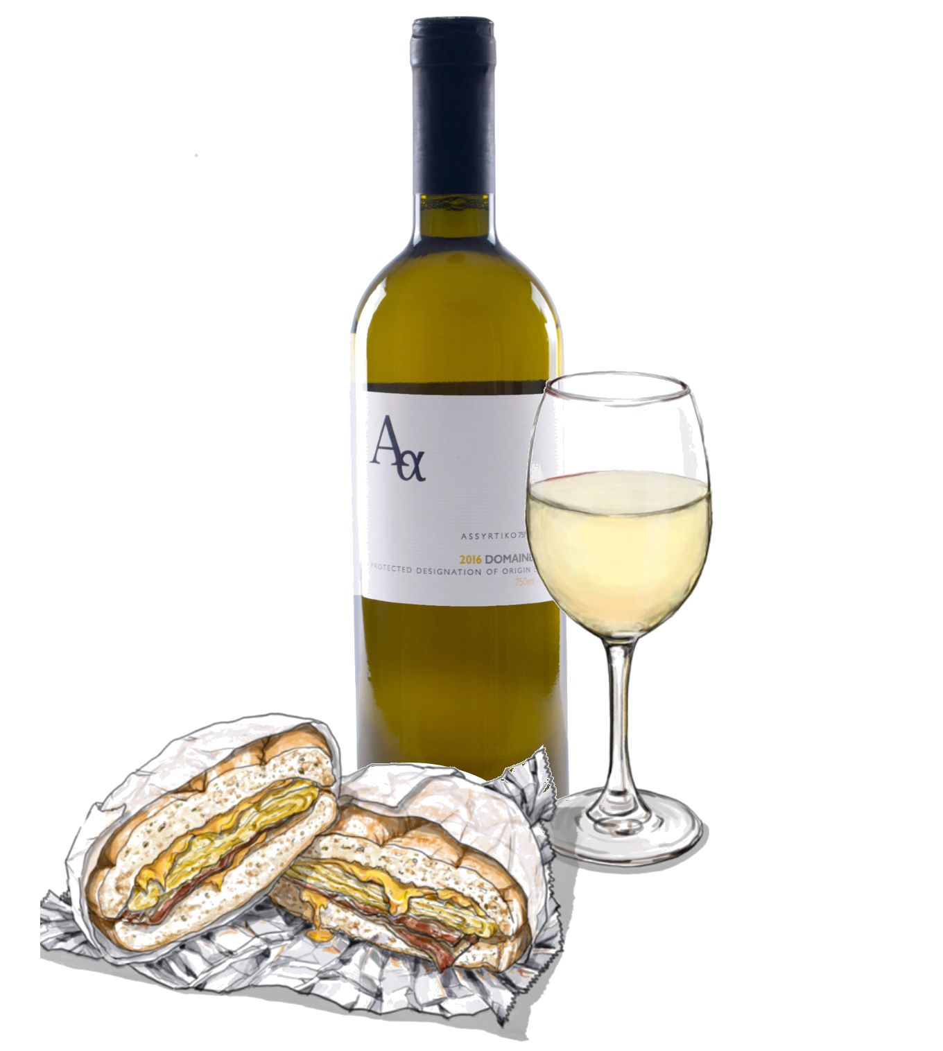 How to Pair Wine With Breakfast Sandwiches!? Add Domaine Sigalas!