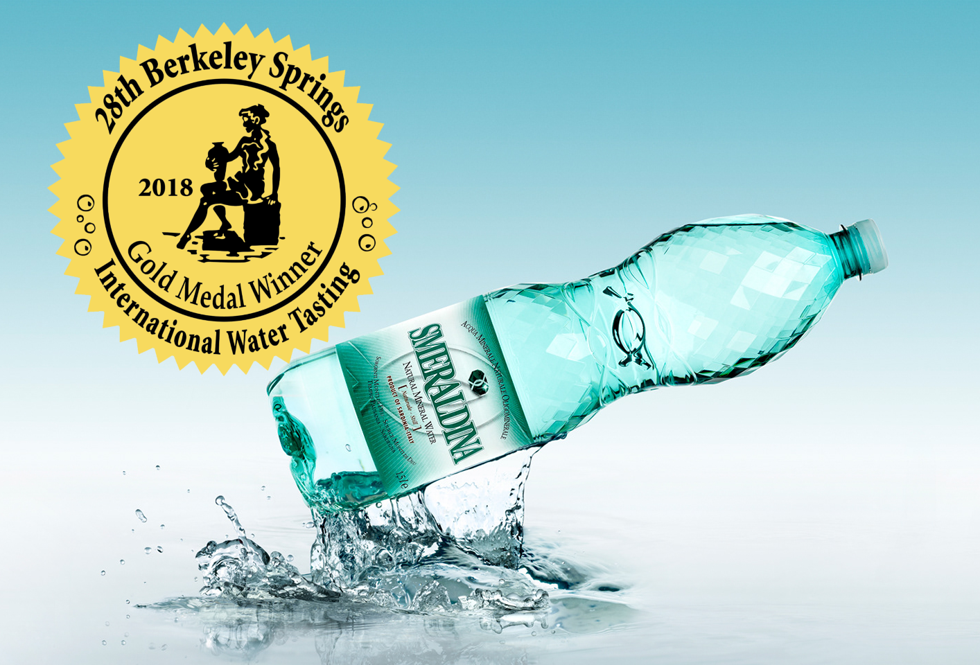 "Smeraldina Wins BIG! Gold Medal for ""Best Bottled Water"" at Berkely Springs"