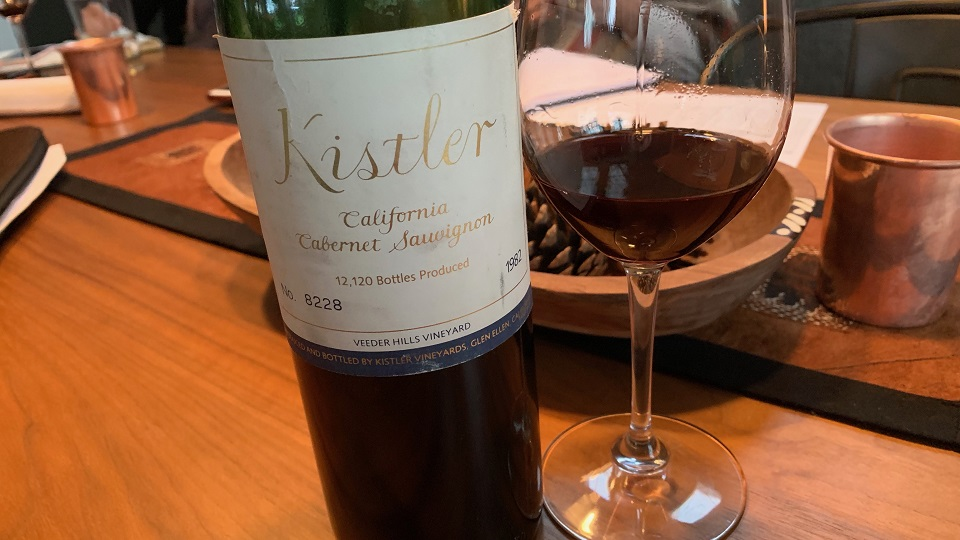 Cellar Favorite: 1982 Kistler California Cabernet Sauvignon Veeder Hills Vineyard
