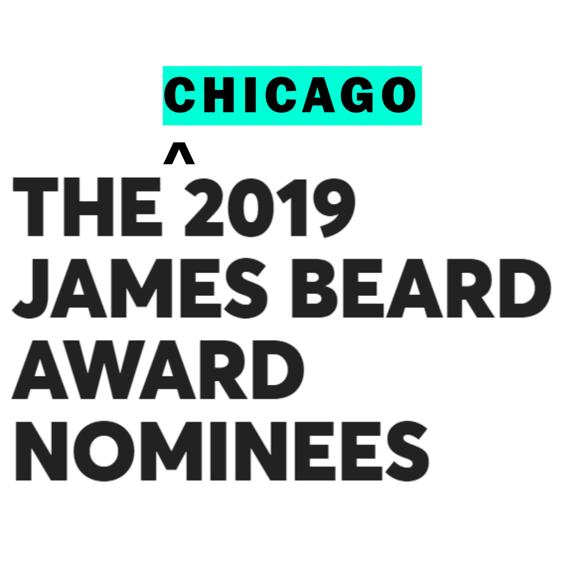 THE 2019 JAMES BEARD AWARD NOMINEES