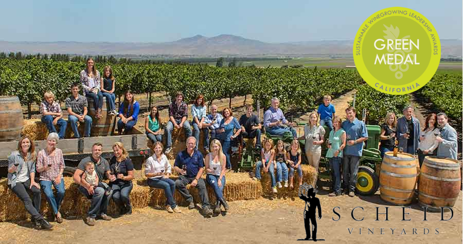 Scheid Family Wines Wins 2019 California Green Medal
