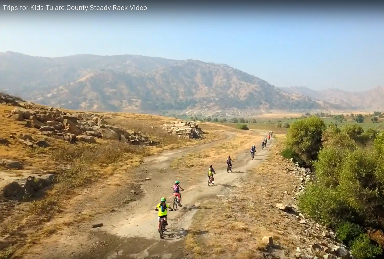 Chapter Video Feature - A bird's eye view of the Trips for Kids Tulare County chapter's Discovery Ride program in action. (1 minute video; click here or image)