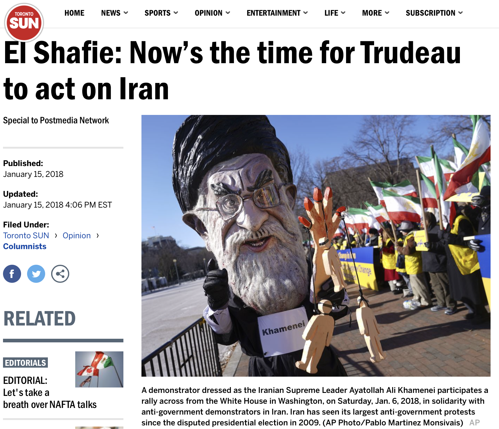 Canada Iran Need For Action