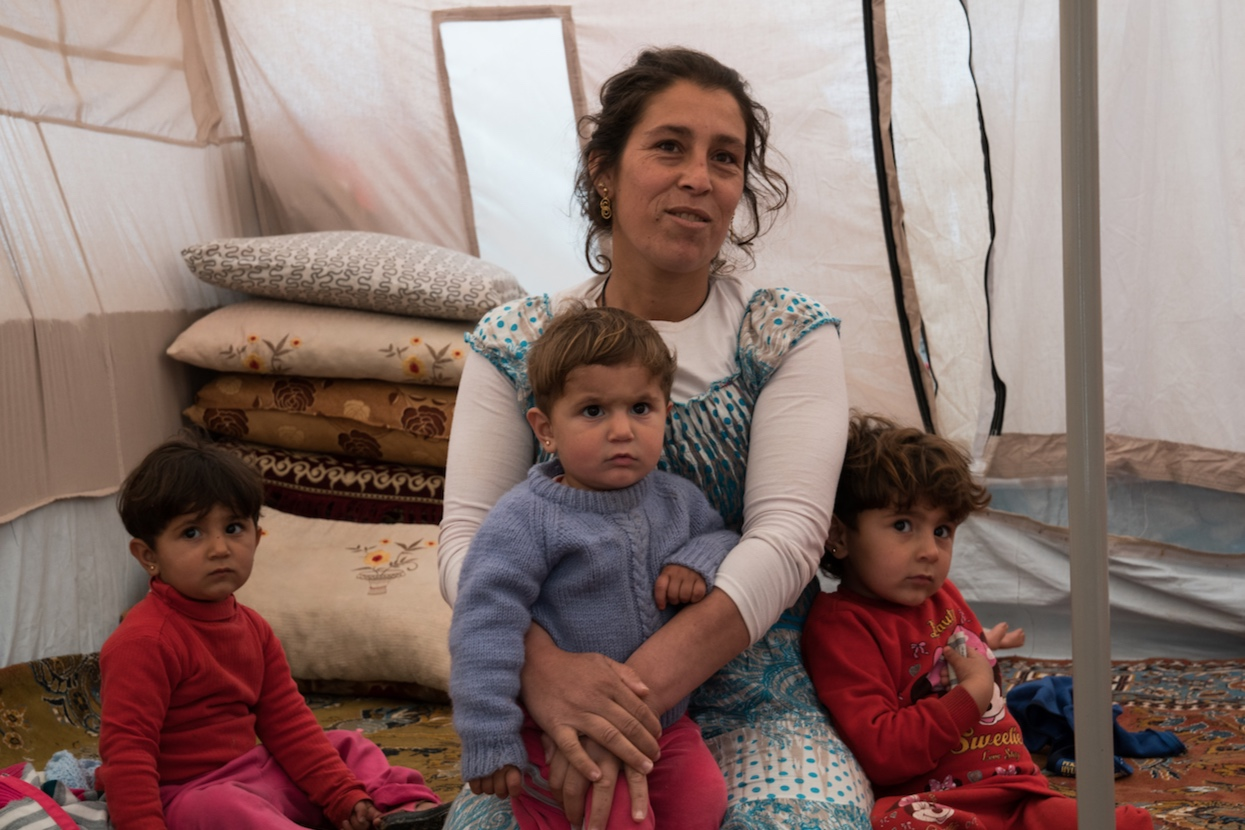 Refugee family in northern Iraq