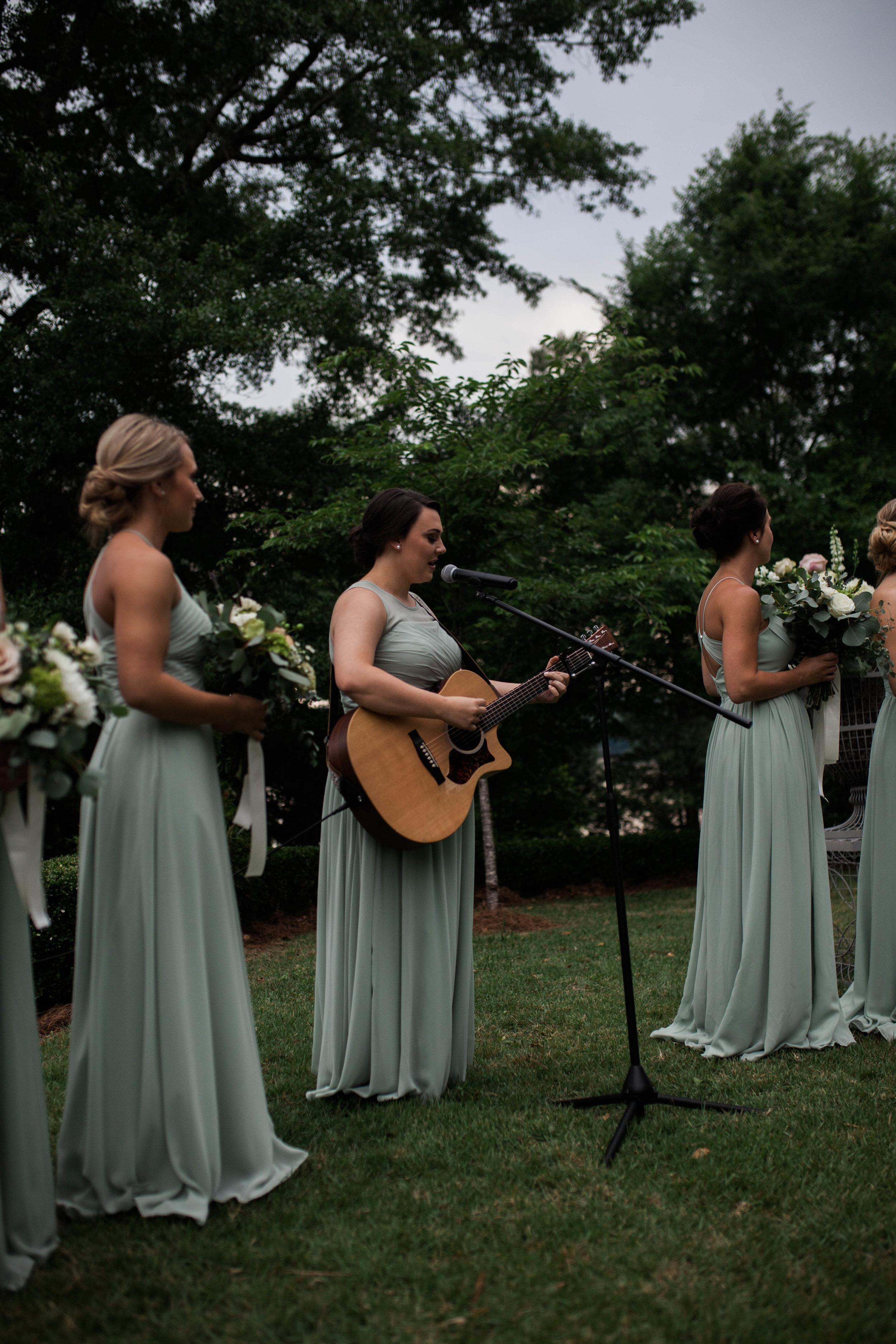 StoneWood Farms | Bridesmaid guitarist