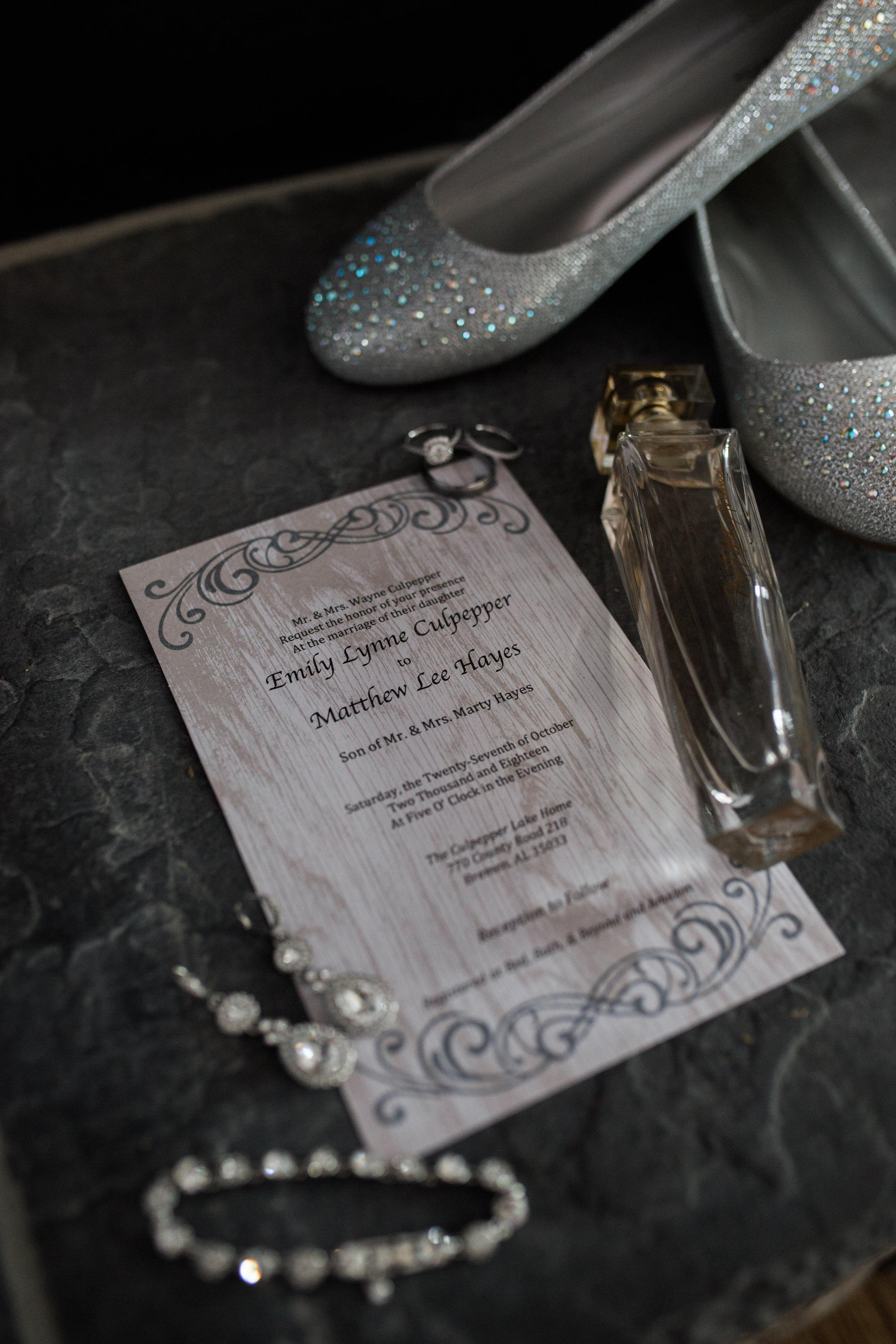 Wedding invitation | Smith Lake | Bremen, AL