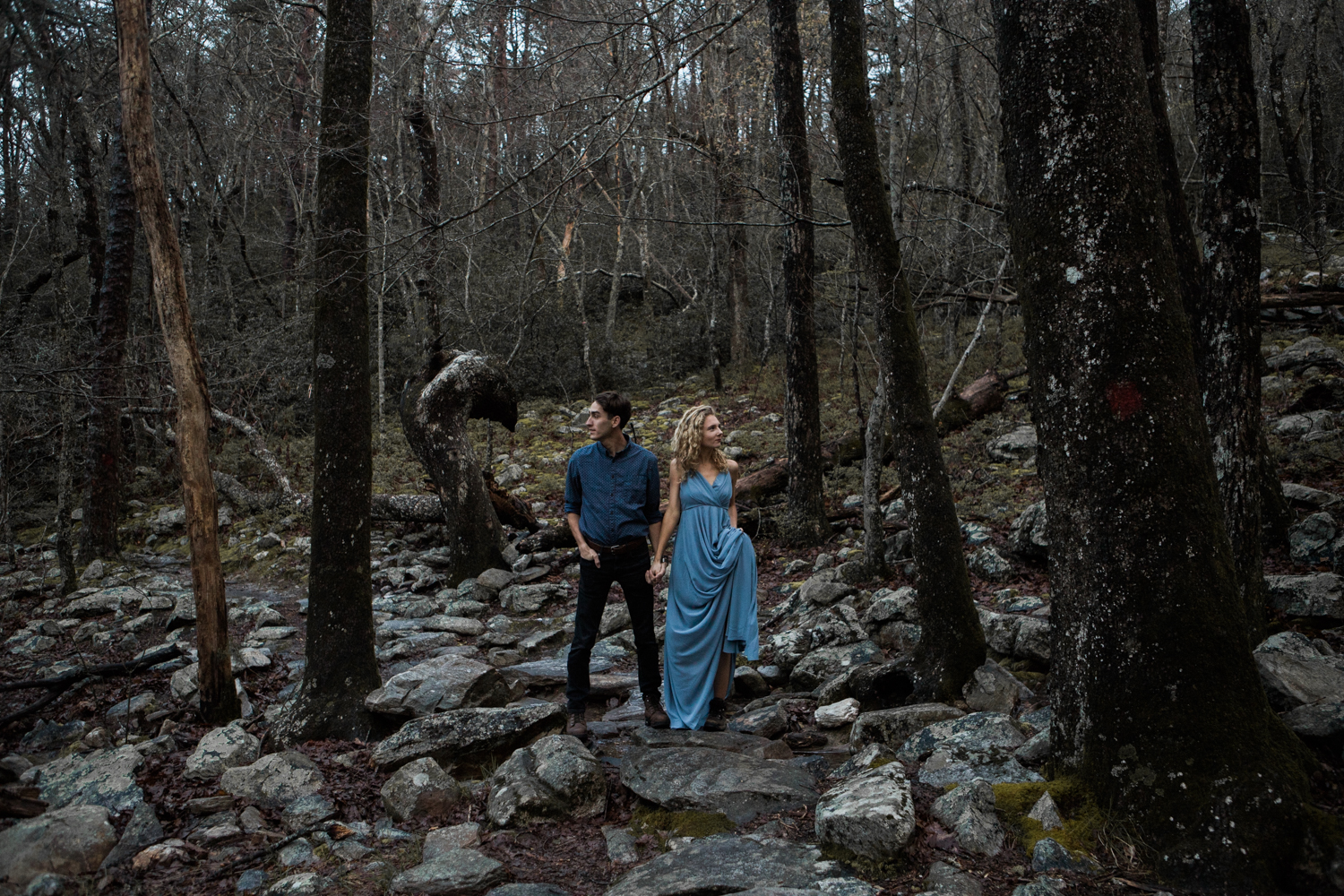 Cheaha State Park | Engagement at Sunrise | Moody Photography