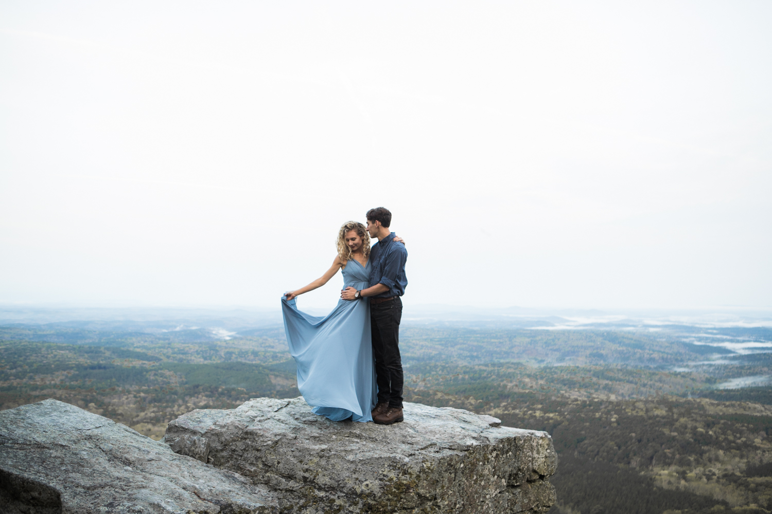 Sunrise Engagement Shoot | Cheaha State Park | Pulpit Rock