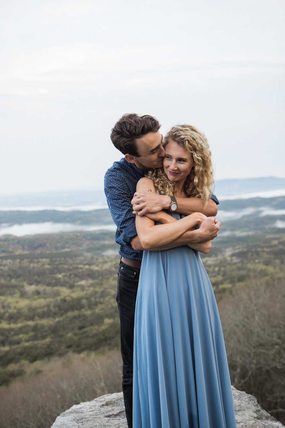 Sunrise Engagement Shoot | Cheaha State Park | Pulpit Rock | Moody Photography