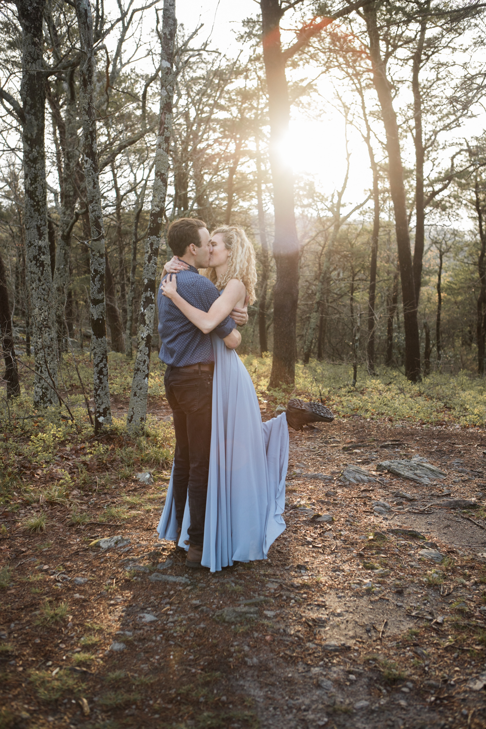Sunrise Engagement Shoot | Cheaha State Park | Pulpit Rock | Moody Photography | Adventurous Couple