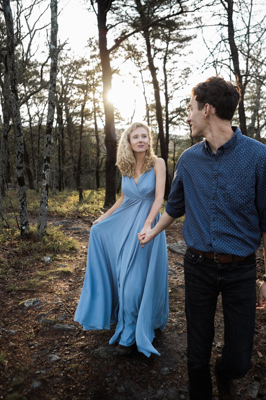 Sunrise Engagement Shoot | Cheaha State Park | Pulpit Rock | Moody Photography | Adventurous Couple