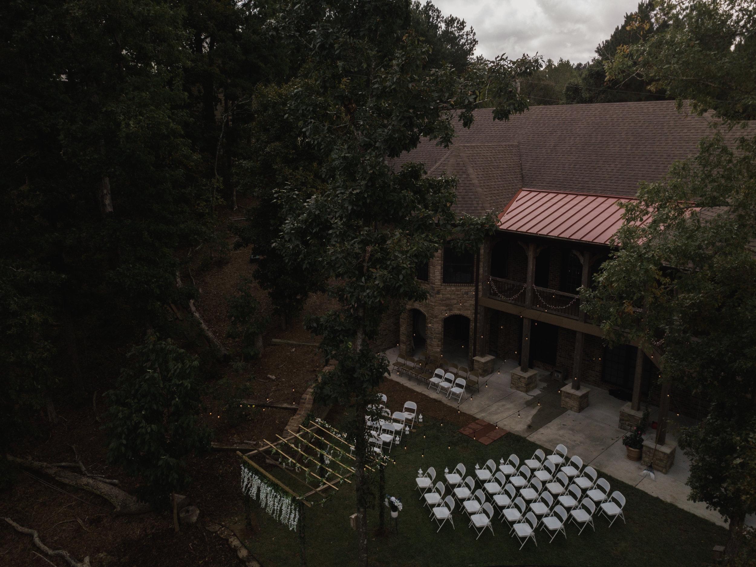Drone wedding venue | Smith Lake | Bremen, AL