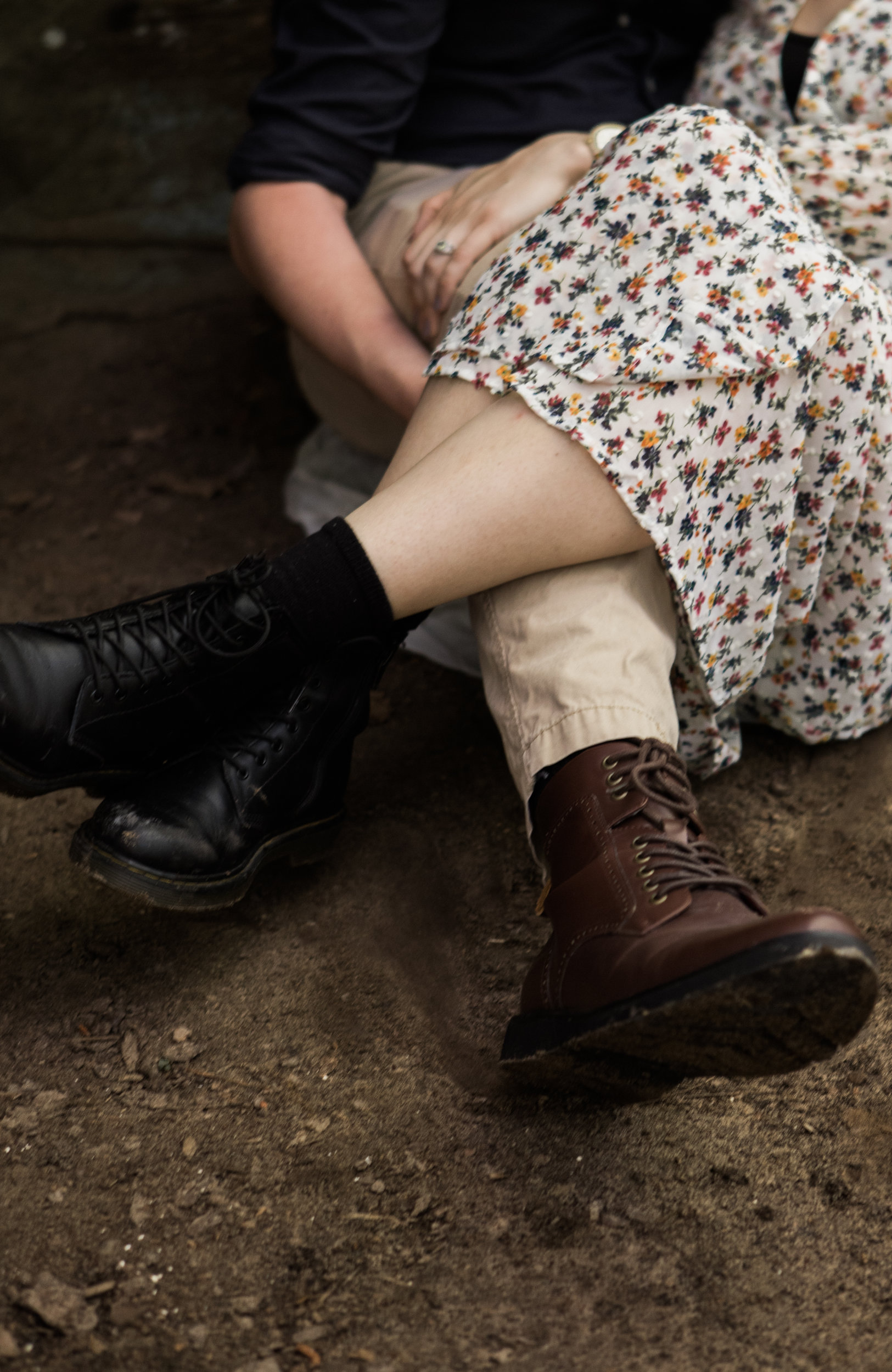 Moss Rock Preserve | Engagement Session | Hiking Boots