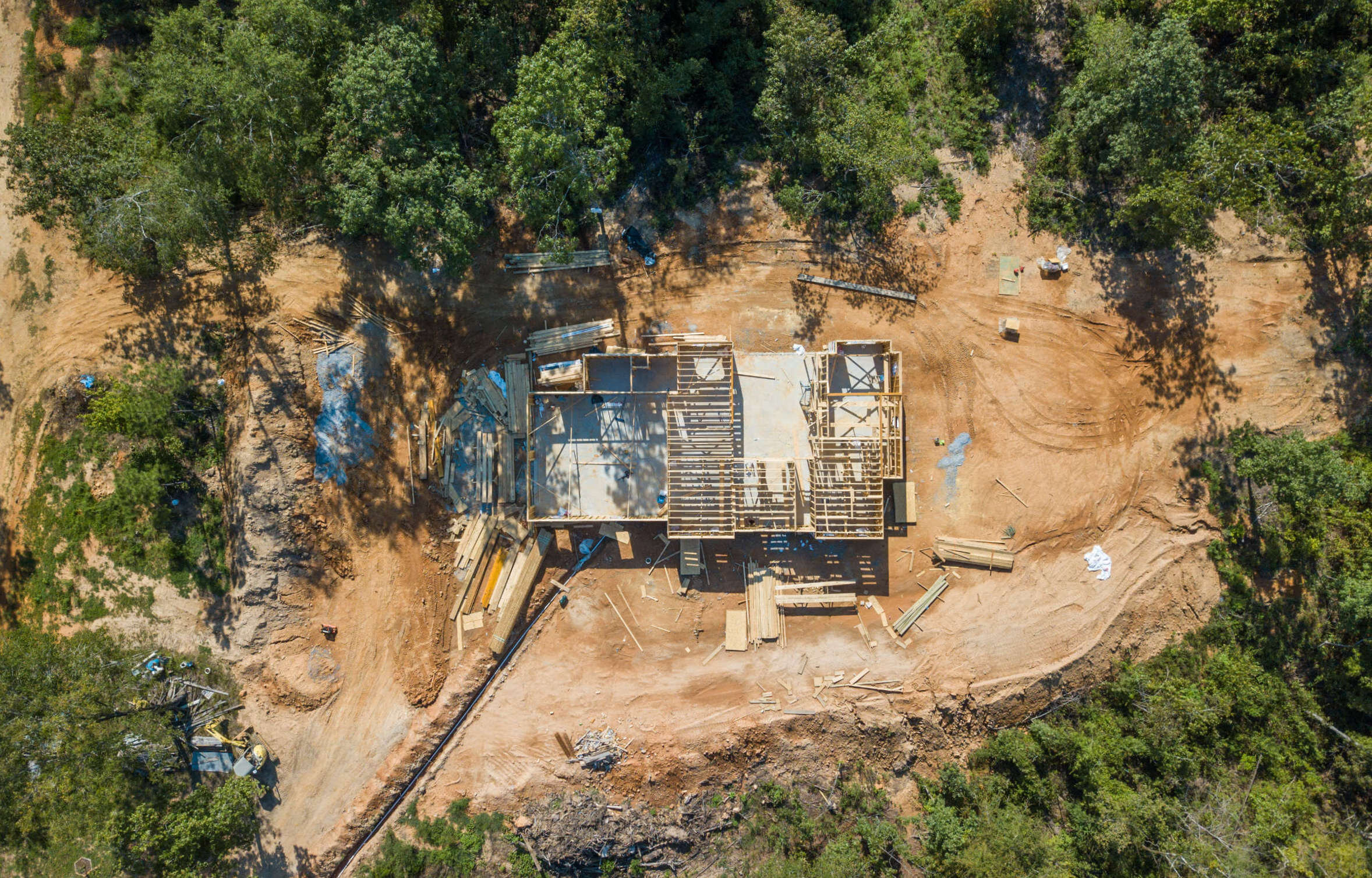 Construction aerial photography | Drone progress picture